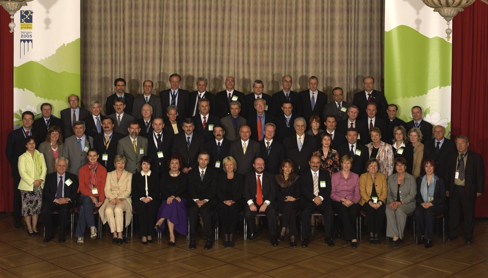Ministers attending the Bergen Conference