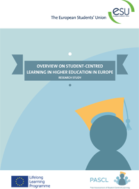 ESU Overview on Student Centred Learning in Higher Education in Europe - cover